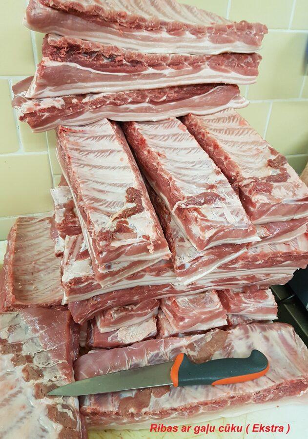 Cūkgaļas Ribas ar gaļu (Ekstra)
